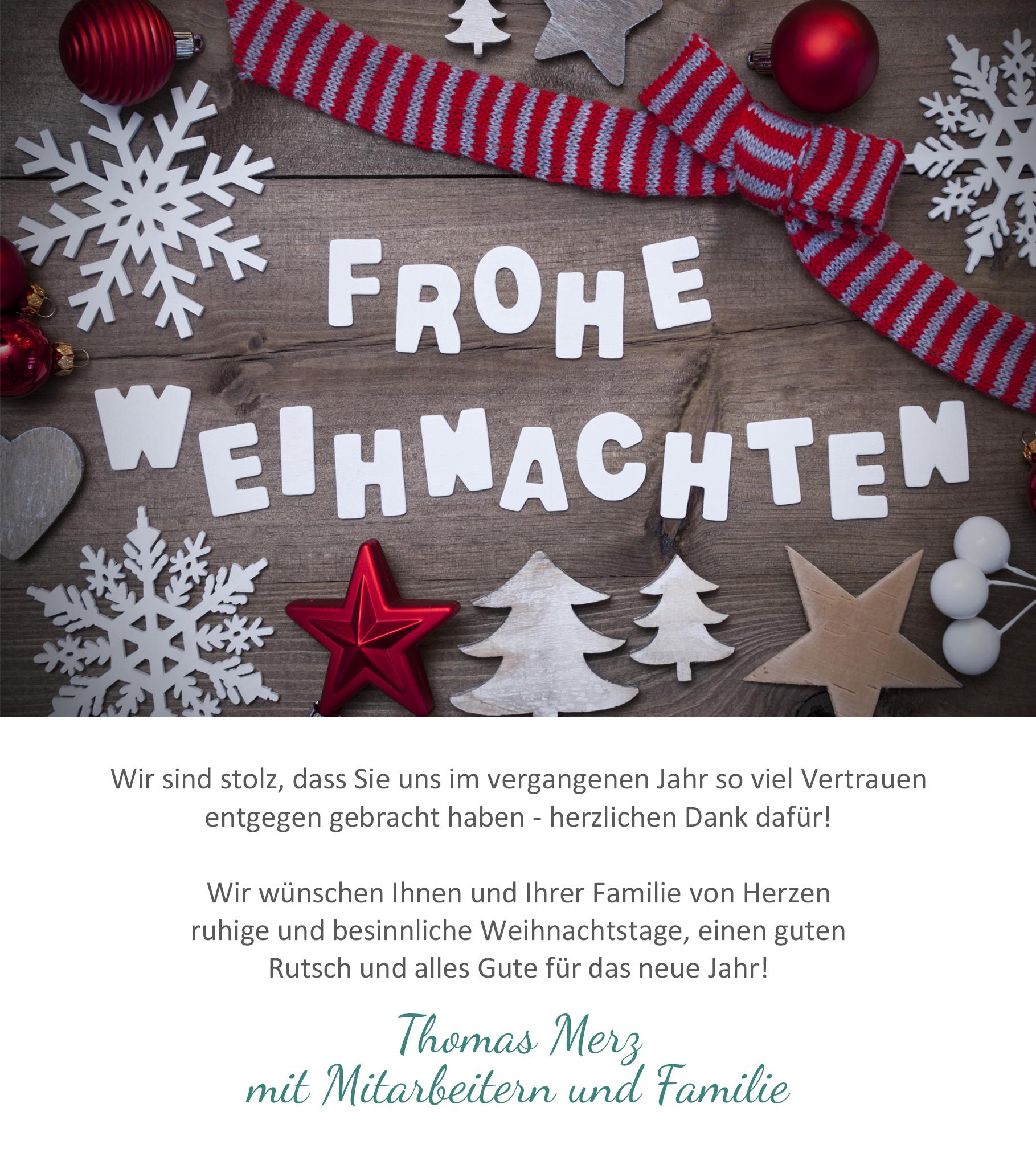 Weihnachtsgrüße Text Familie.Weihnachtsgruß Tischlerei Merz
